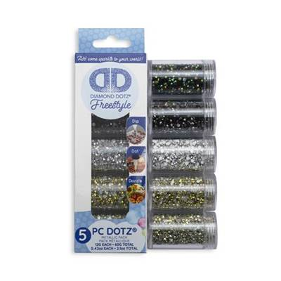 PACK ASSORTIMENT STRASS DIAMOND DOTZ - 5 COULEURS METALLIQUES