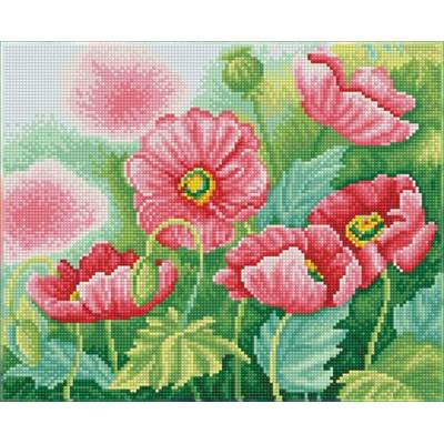 KIT BRODERIE DIAMANT SQUARES - WATERCOLOUR POPPIES