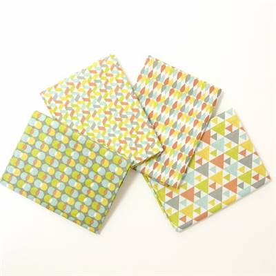 4 COUPONS TISSUS 45X55 GEOMETRIC MULTICOLORE