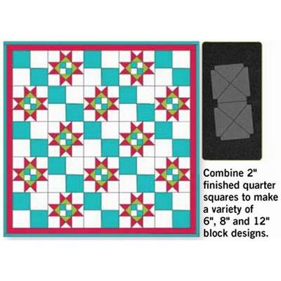 QUARTER SQUARE 2'' FINISHED TRIANGLE