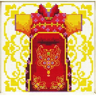 NO COUNT CROSS STITCH - KIMONO ROUGE POUR MONSIEUR