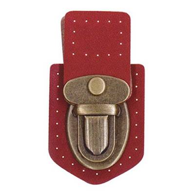 FERMOIR DE CARTABLE INAZUMA OR ANTIQUE 6.3 X 3.5 CM - ROUGE