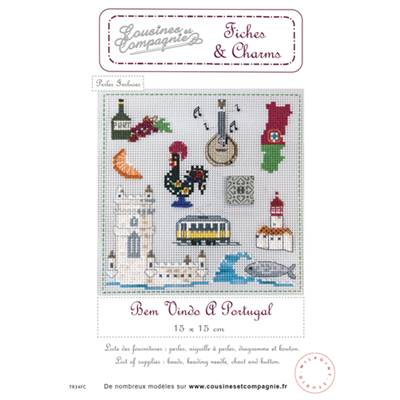 BEM VINDO A PORTUGAL - SEMI-KIT FICHES & CHARMS