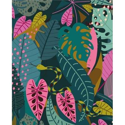 TISSU DASHWOOD - NIGHT JUNGLE 1647 - COTON - 110 CM - mini 5 m