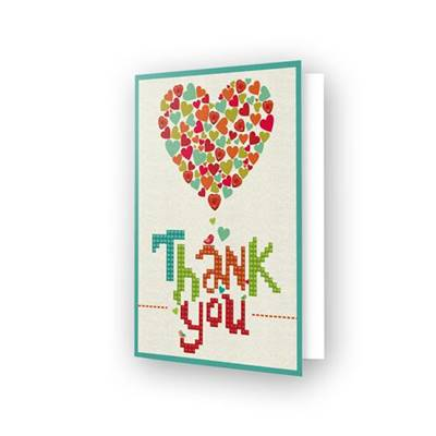 CARTE DE VOEUX DIAMOND DOTZ - THANK YOU HEART