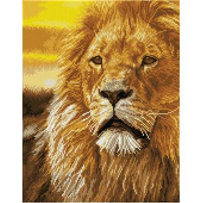 KIT BRODERIE DIAMANT SQUARES - LORD OF THE SERENGETI