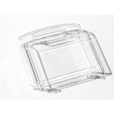 MINI VALISETTE PLASTIQUE TRANSPARENT RIGIDE - 9 X 8 X 2.4 CM