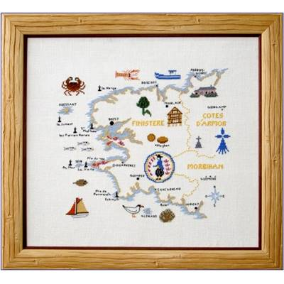 DIAGRAMME POINT DE CROIX ABC COLLECTION - CARTE BRETAGNE