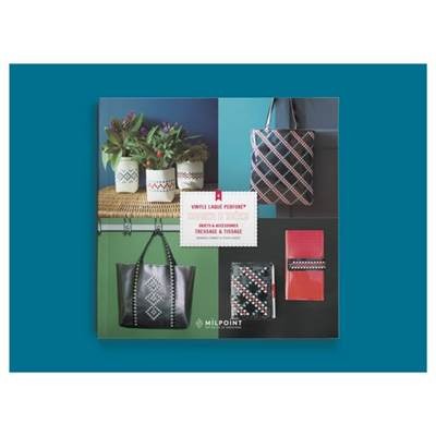 CAHIER D'IDEES VINYLE LAQUE PERFORE - TRESSAGE & TISSAGE