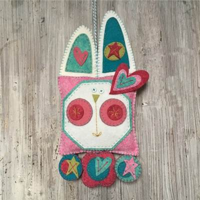 KIT HAPPY BUNNY PENNY RUG