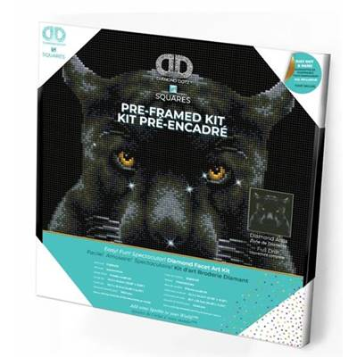 KIT BRODERIE DIAMANT SQUARES - IF LOOKS COULD KILL - PRE-ENCADRE