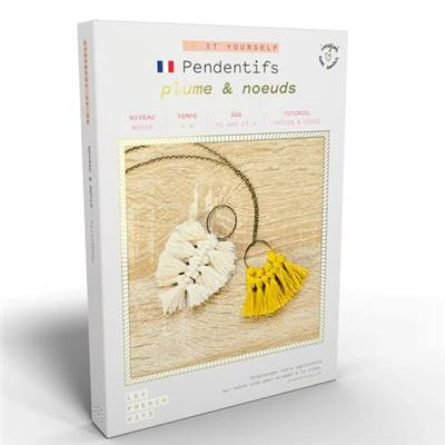 FRENCH'KITS - DIY - PENDENTIFS - PLUME & NOEUDS