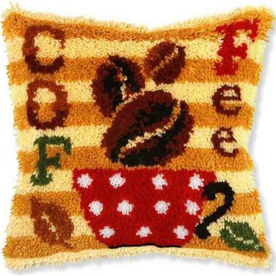 KIT COUSSIN POINT NOUE 40 X 40 CM - COFFEE