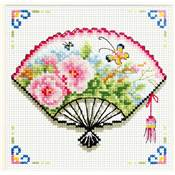 NO COUNT CROSS STITCH - ROSE FAN