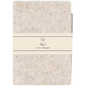 COUPON FEUTRINE POLYESTER 50 X 70 CM - BEIGE
