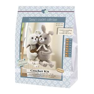 KIT CROCHET EMILY & FRIENDS COLLECTION - LILLY & TIM 22 & 22 CM