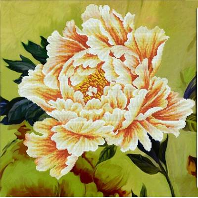 NO COUNT CROSS STITCH - PIVOINE N°2