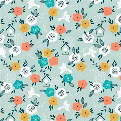TISSU DASHWOOD - SUMMER BREEZE 1658 - COTON - 110 CM - mini 5 m