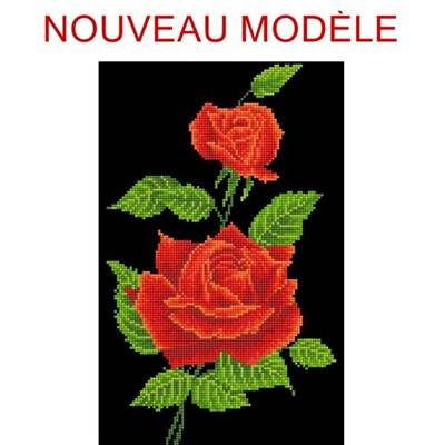 KIT BRODERIE DIAMANT - LES ROSES ROUGES