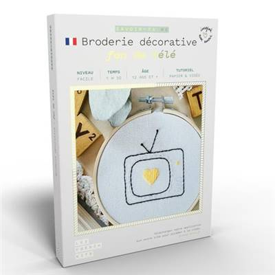 FRENCH KITS - BRODERIE DÉCORATIVE - FAN DE TV