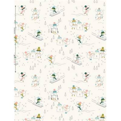 TISSU DASHWOOD -CHRISTMAS PARTY 1521 - COTON - 110 CM - mini 5 m