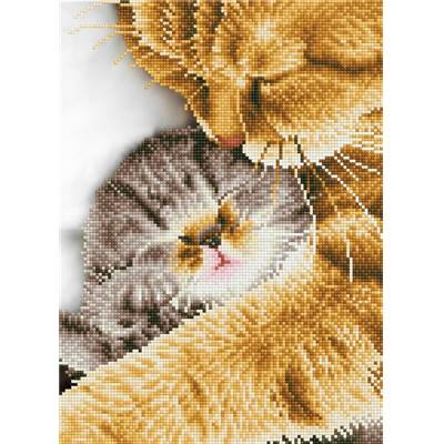 KIT BRODERIE DIAMANT - TENDRES CHATS