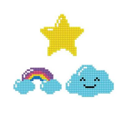 KIT BRODERIE DIAMANT DOTZIES - LOT 3 STICKERS SKY