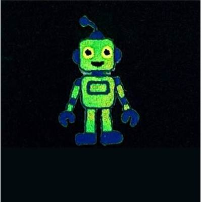 MOTIFS THERMOCOLLANTS - ROBOT VERT - LE LOT DE 3