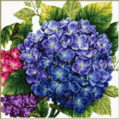 NO COUNT CROSS STITCH - HORTENSIA
