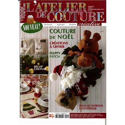 L'ATELIER DE COUTURE CREATIVE N°2 - NOV/DEC 2013 - par 3 ex.