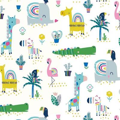 TISSU DASHWOOD STUDIO - RAINBOW FRIENDS 1789 - COTON - 110CM