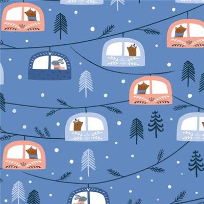 TISSU DASHWOOD STUDIO - SNOW MUCH FUN 1707 - COTON - 110 CM