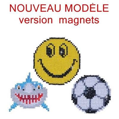 KIT BRODERIE DIAMANT - LOT 3 MAGNETS FUN - septembre 2018