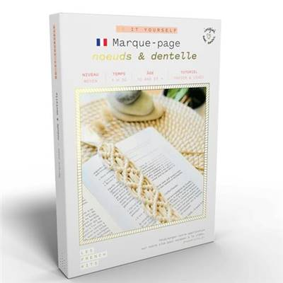 FRENCH'KITS - DIY - MARQUE-PAGES - NOEUDS & DENTELLE