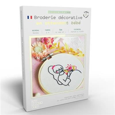 FRENCH KITS - BRODERIE DÉCORATIVE - EN ATTENDANT BEBE