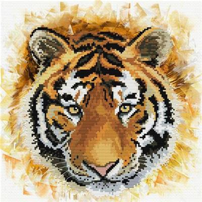 NO COUNT CROSS STITCH - TIGER CHARGE