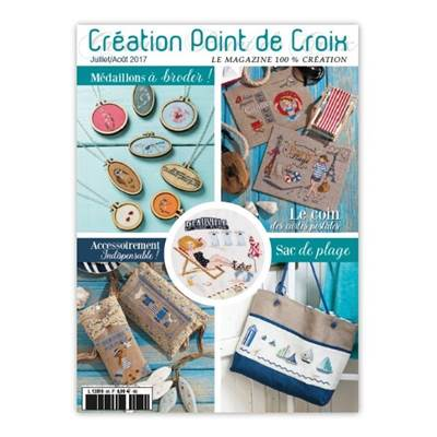 MAGAZINE CREATION POINT DE CROIX N°65 - JUILLET/AOUT 2017