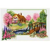 NO COUNT CROSS STITCH - LE COTTAGE AU PRINTEMPS