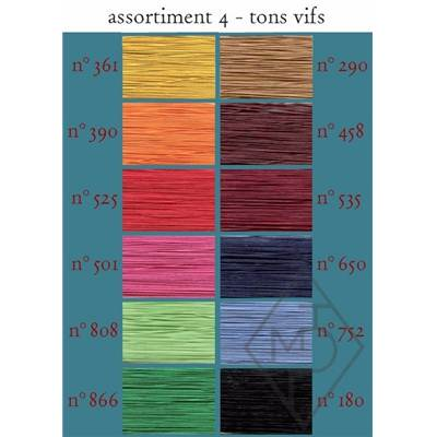 FIL A GANT ET APPLICATION COTON-ASSORT. N°3 - 12 BOB. TONS VIFS