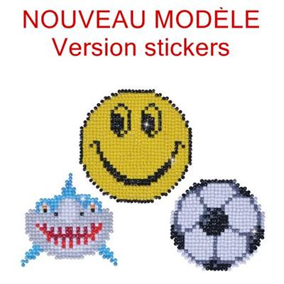 KIT BRODERIE DIAMANT - LOT 3 STICKERS FUN