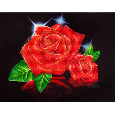 KIT BRODERIE DIAMANT - ROSES ROUGES