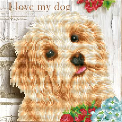 KIT BRODERIE DIAMANT - I LOVE MY DOG