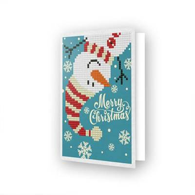 CARTE DE VOEUX DIAMOND DOTZ - MERRY CHRISTMAS SNOWMAN