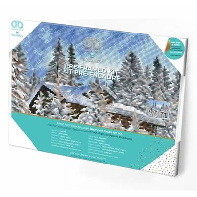 KIT BRODERIE DIAMANT SQUARES - ALPINE RETREAT - PRE-ENCADRE