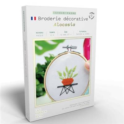 FRENCH'KITS - BRODERIE DÉCORATIVE - ALOCASIA