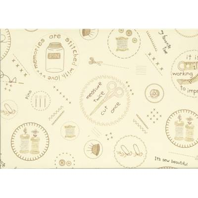 Tissu LECIEN -Coton-American Country 18th col 10 -110 cm-mini 5.50 m