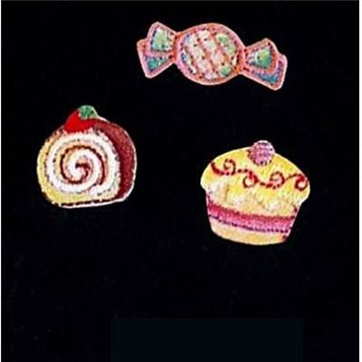 MOTIFS THERMOCOLLANTS - GATEAUX - LE LOT DE 3