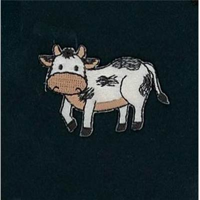 MOTIFS THERMOCOLLANTS - VACHE - LE LOT DE 3