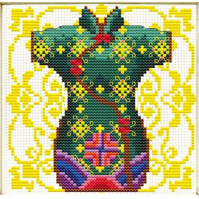 NO COUNT CROSS STITCH - KIMONO VERT POUR MADAME