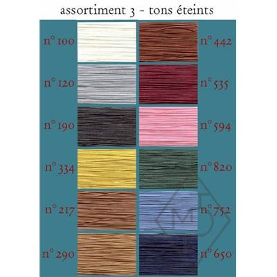 FIL A GANT ET APPLICATION COTON-ASSORT. N°2 - 12 BOB. TONS PASTELS